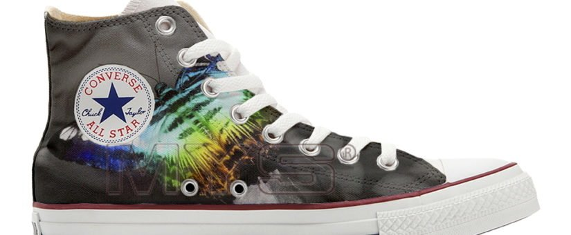 Converse ALL STAR Hi personalizzate BUTTERFLY N.2 cod. XA11_189 Make Your Shoes