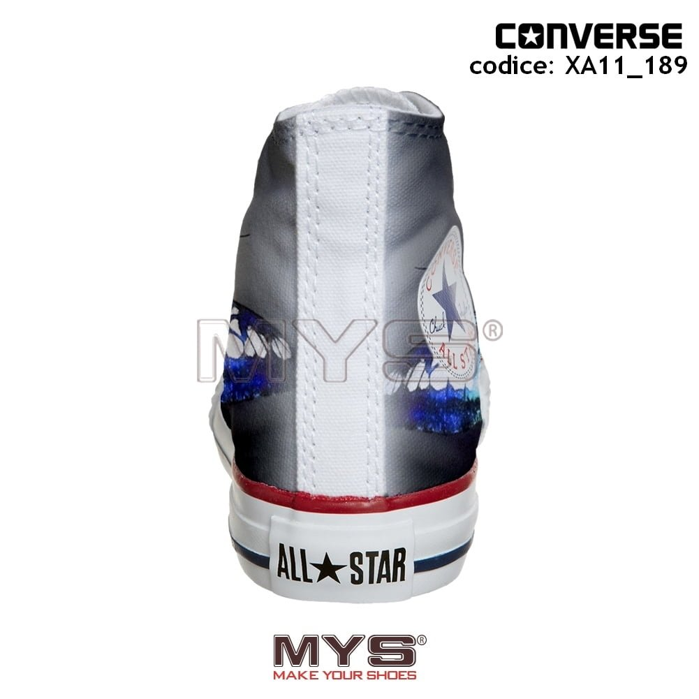 Converse ALL STAR Hi personalizzate BUTTERFLY N.2 cod. XA11_189