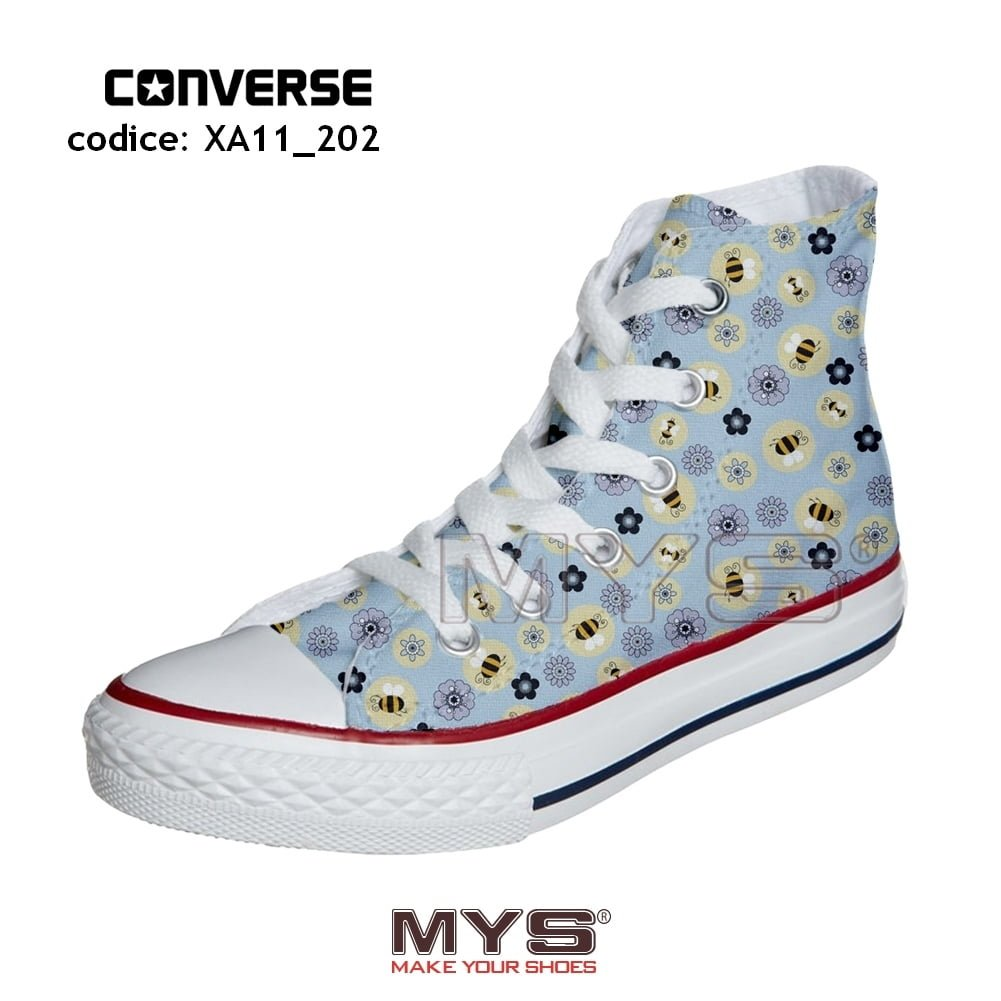 all star converse con fiori